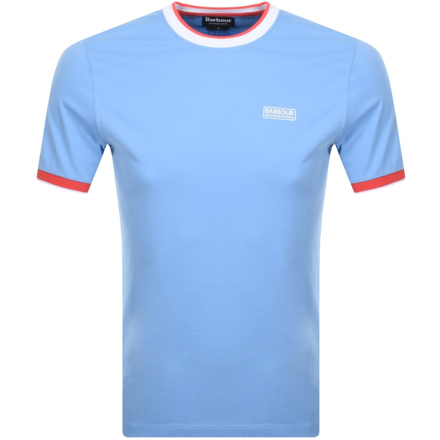 Barbour International Small Logo T Shirt Blue