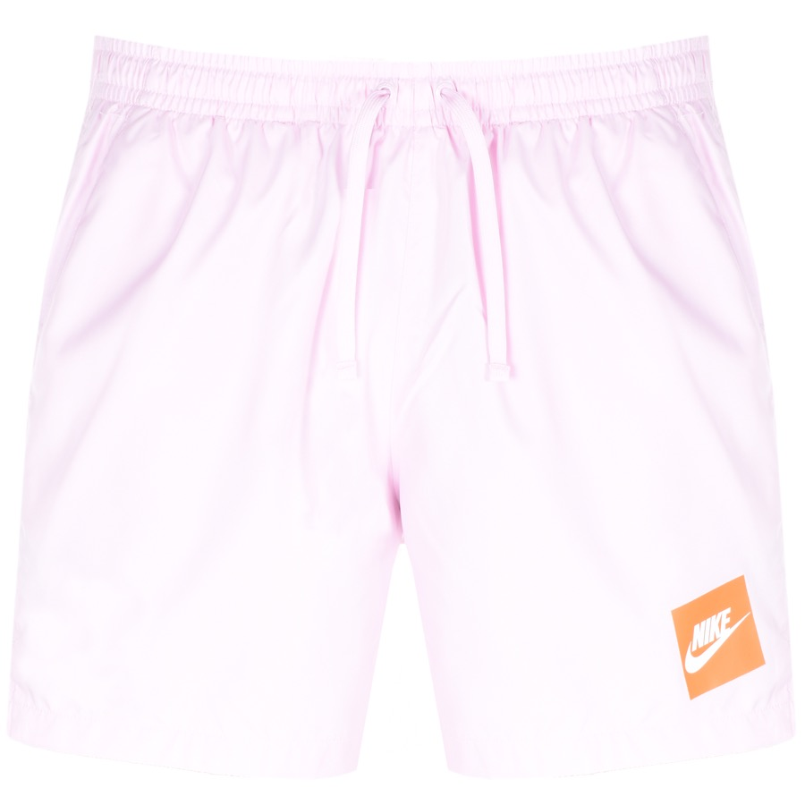 Nike Flow Logo Swim Shorts Pink