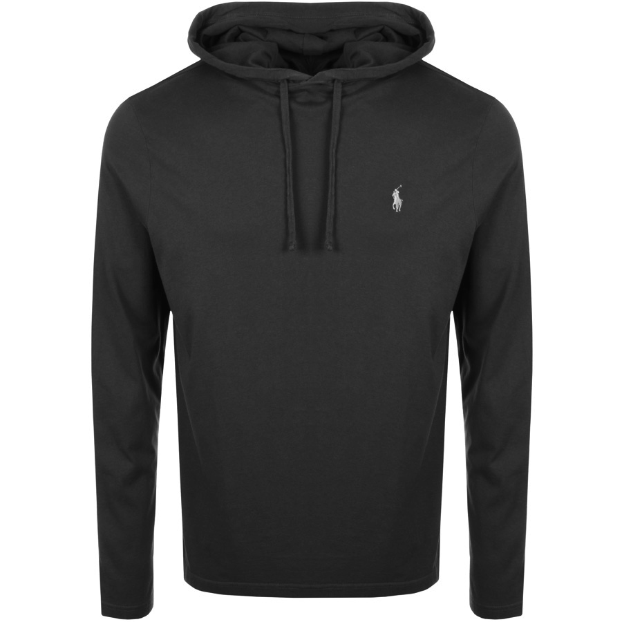 Main Product Image for Ralph Lauren Long Sleeved Hooded T Shirt Black