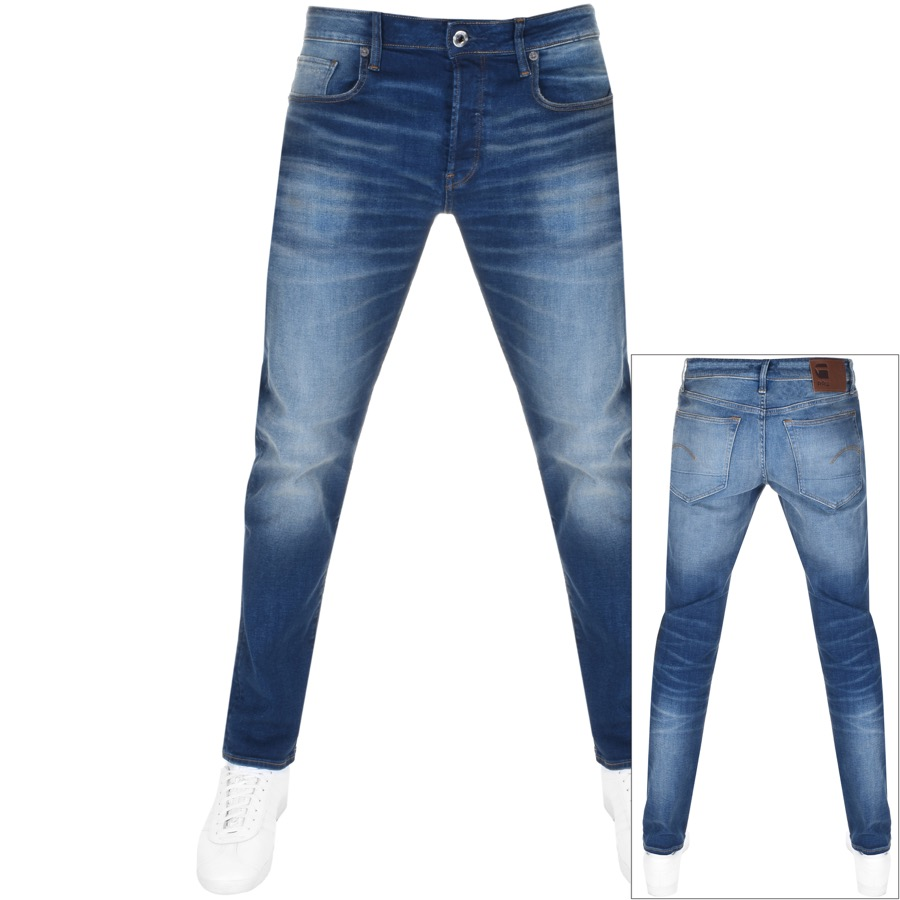 9c82a311 G Star Raw 3301 Slim Fit Jeans Blue | Mainline Menswear