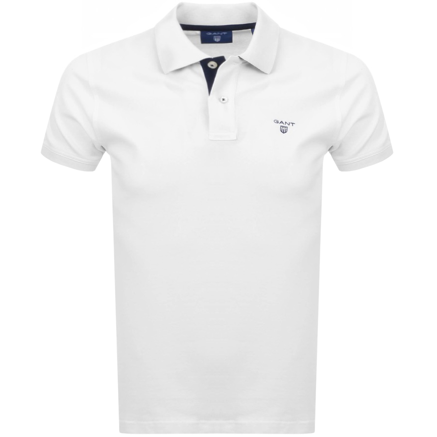 dc701ced4c59 Product Image for Gant Contrast Collar Rugger Polo T Shirt White