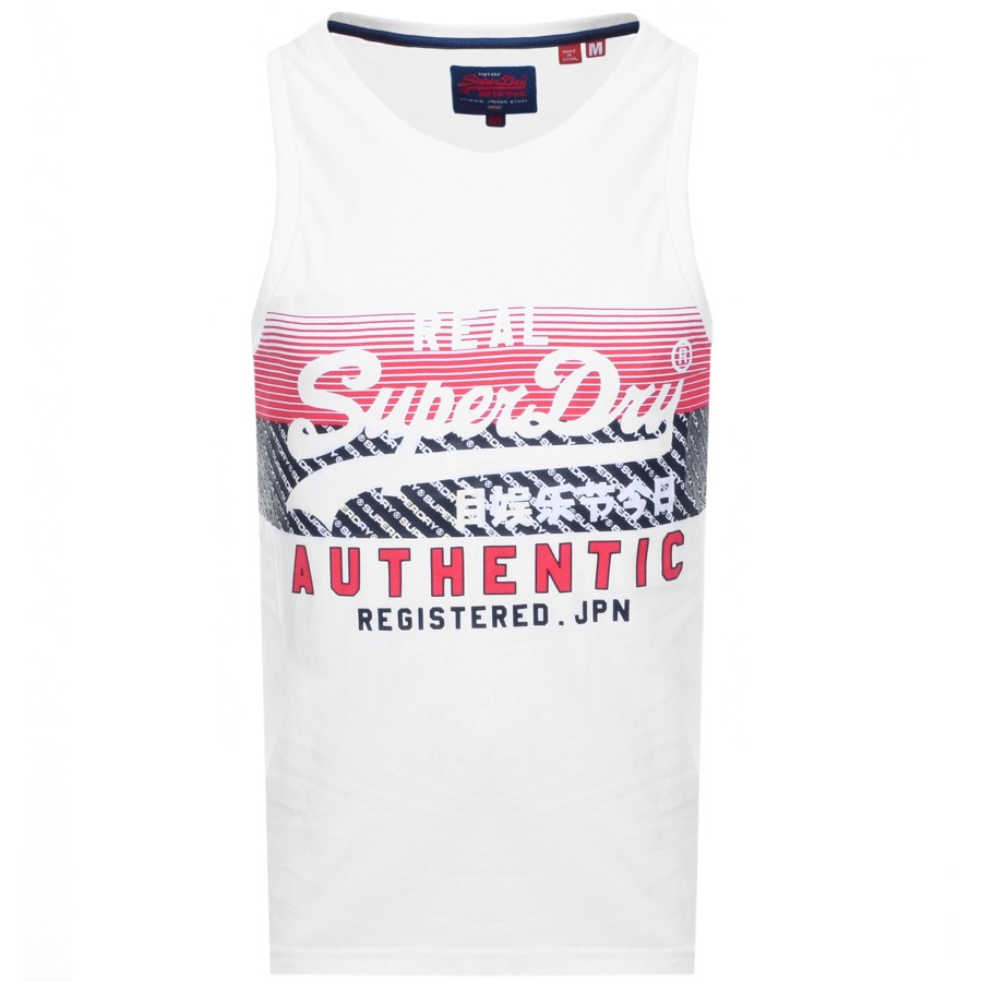 Superdry Vintage Real Logo Vest T Shirt White