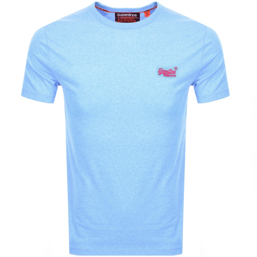Superdry Orange Label Fluro Grit Logo T Shirt Blue