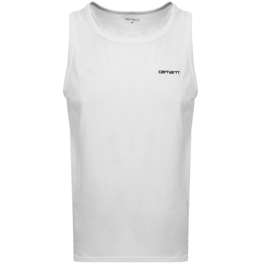 Carhartt Script Embroidery Vest T Shirt White