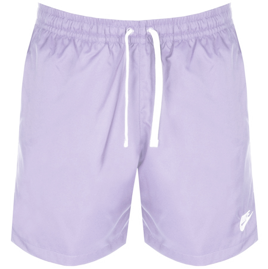 Nike Flow Logo Swim Shorts Purple