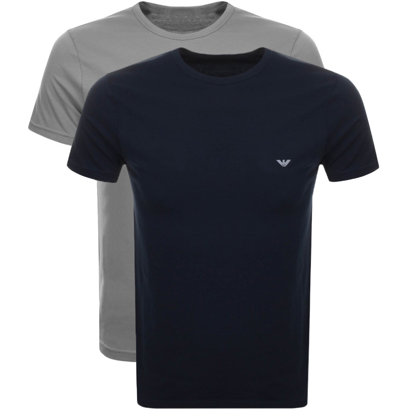 39885d9e5fc Product Image for Emporio Armani 2 Pack Crew Neck T Shirts
