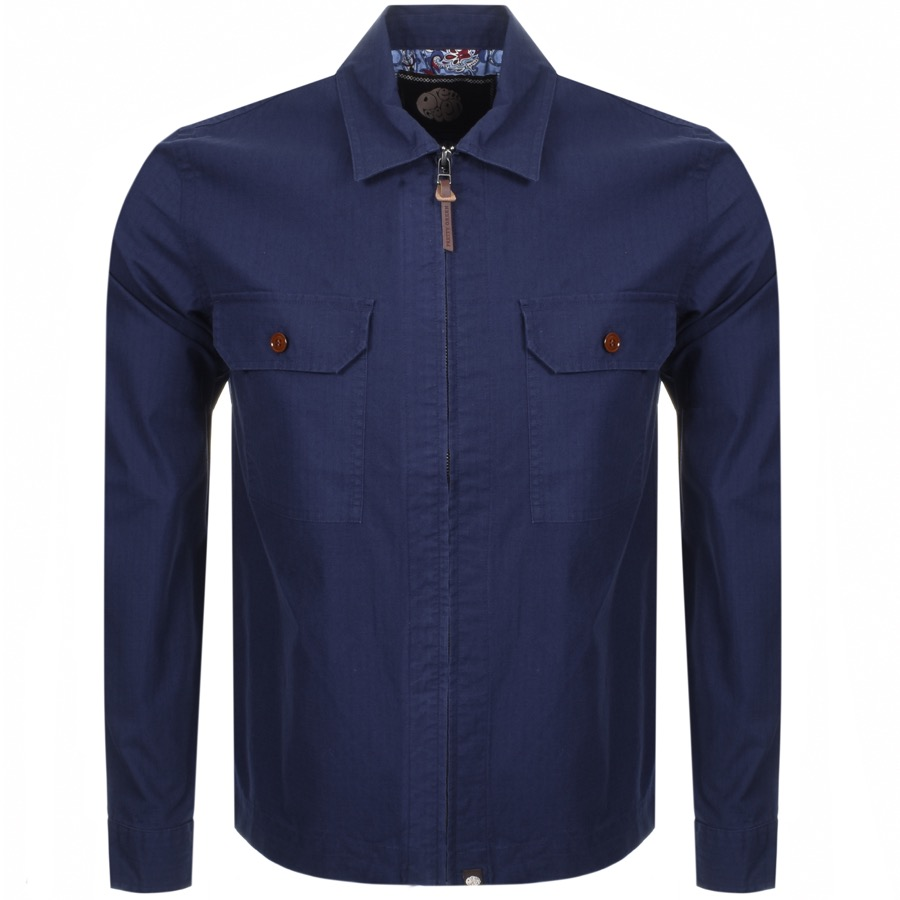 f6a98badc Product Image for Pretty Green Overshirt Jacket Blue