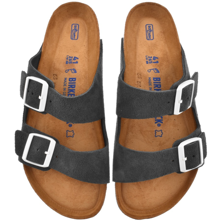 Birkenstock Arizona Suede Sandals Grey