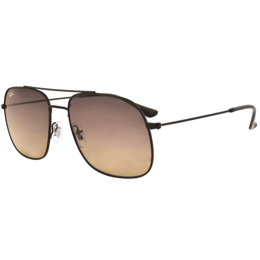 Ray Ban 3595 Aviator Sunglasses Black