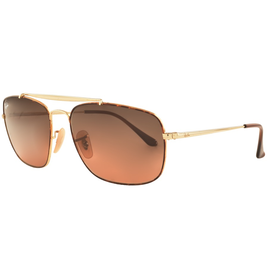 Ray Ban 3560 Colonel Sunglasses Gold