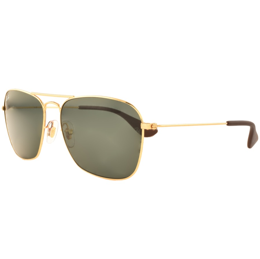 Ray Ban 3610 Aviator Sunglasses Gold