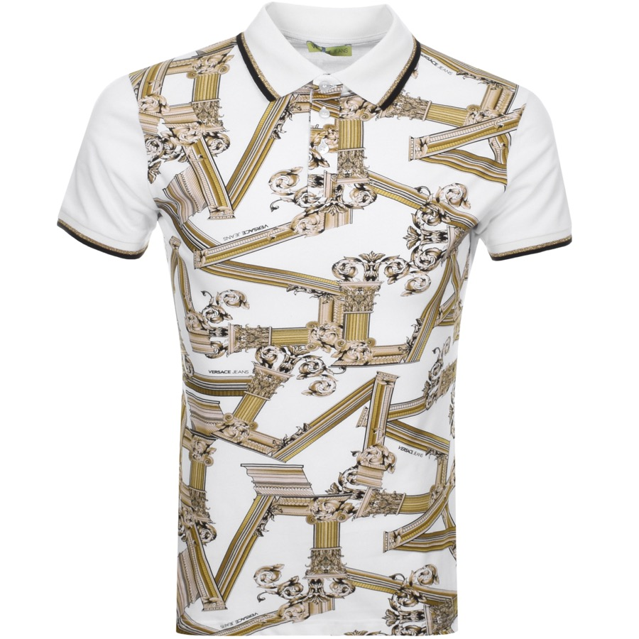 c045a0aedbd4 Product Image for Versace Jeans Short Sleeved Polo T Shirt White