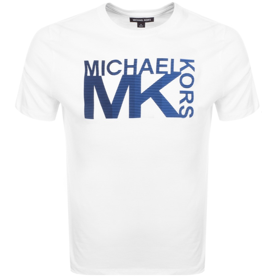 44ef7f38c3d0 Product Image for Michael Kors Athletic Logo T Shirt White