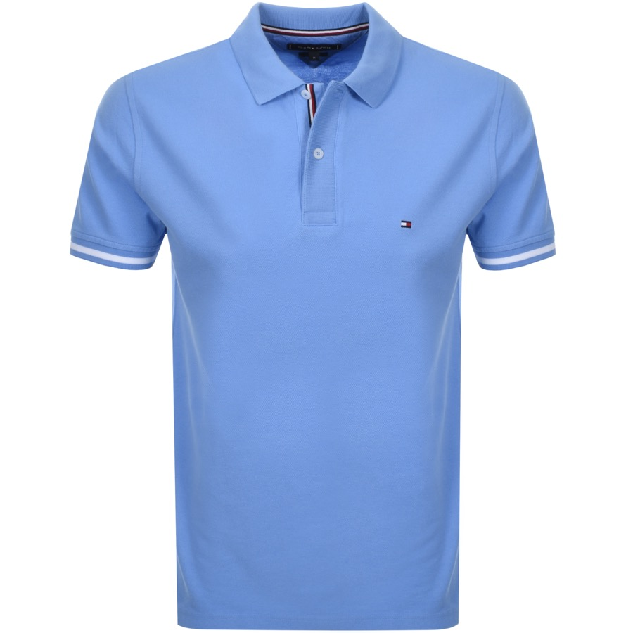 5e2c03d4db0c Product Image for Tommy Hilfiger Slim Polo T Shirt Blue