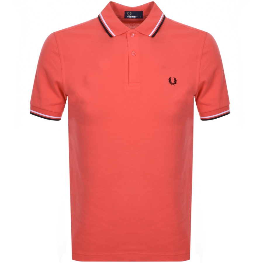 Main Product Image for Fred Perry Twin Tipped Polo T Shirt Red
