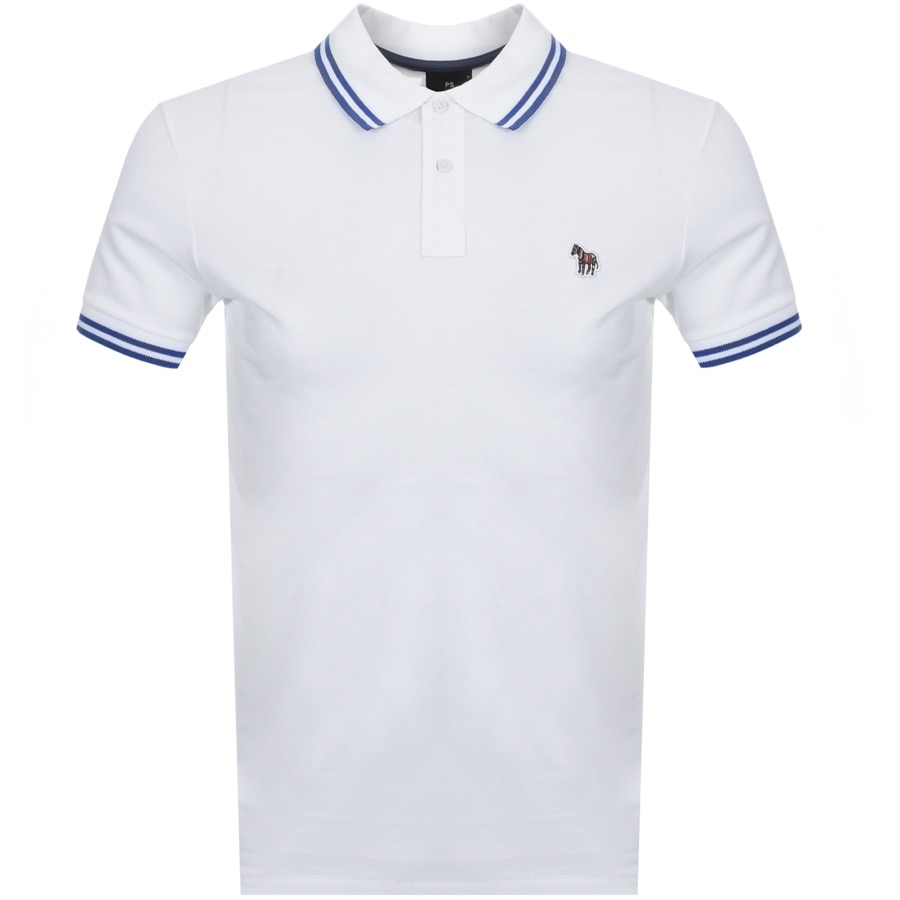 e535cdd97 PS By Paul Smith Slim Fit Zebra Polo T Shirt White