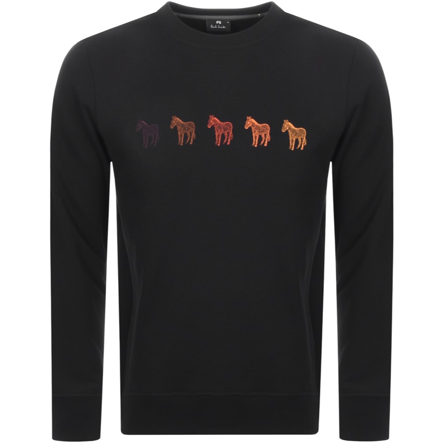 0422e66f4cabd5 Free Delivery. Return. Product Image for PS By Paul Smith Crew Neck Zebra  Sweatshirt Black