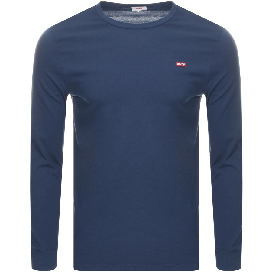 Main Product Image for Levis Original Long Sleeve Logo T Shirt Navy