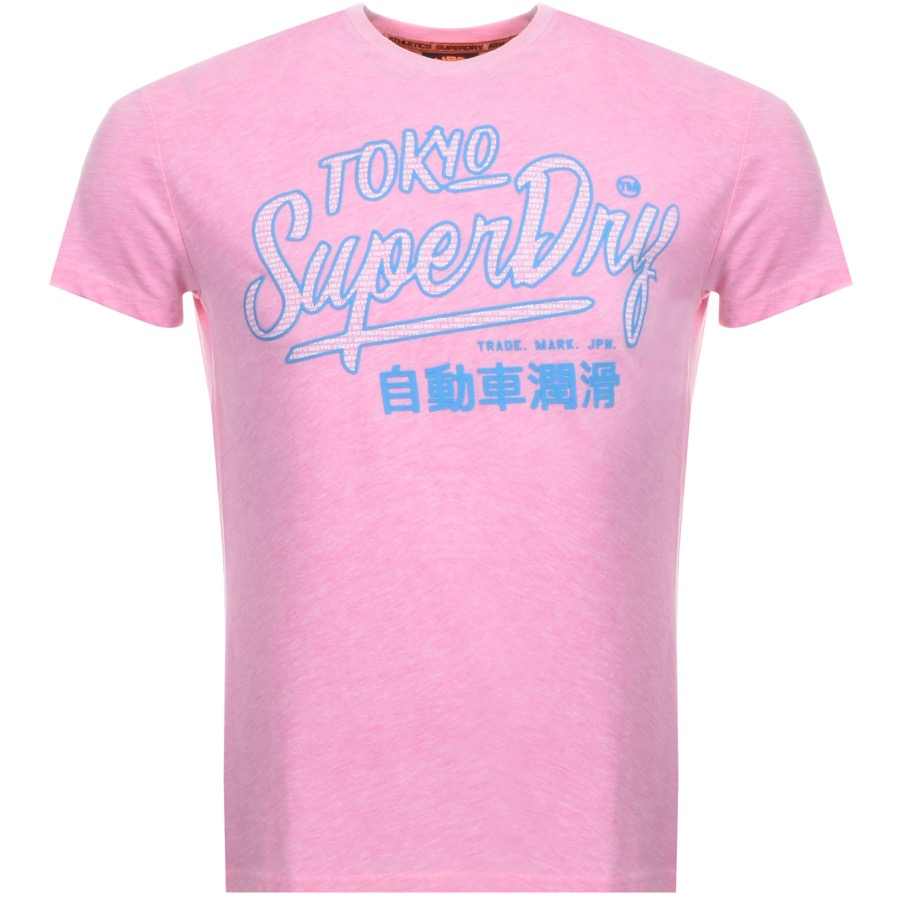Main Product Image for Superdry Vintage Ticket Type Logo T Shirt Pink