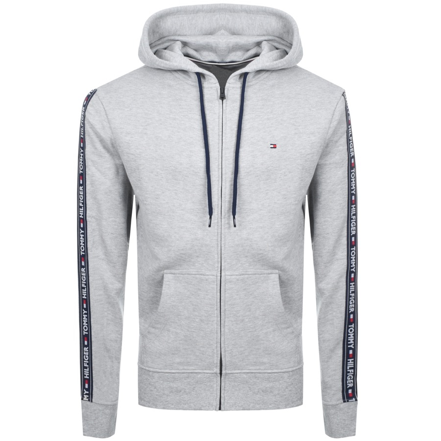615f214b4 Product Image for Tommy Hilfiger Icon Logo Zip Hoodie Grey