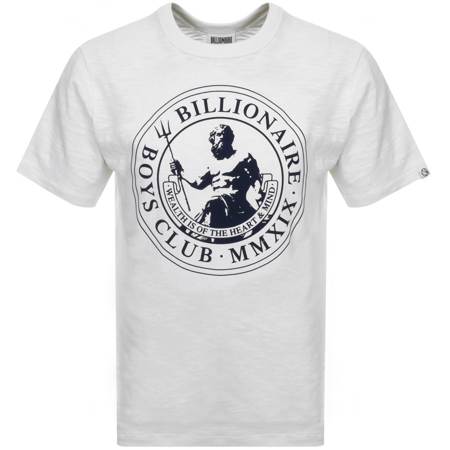 08727ba5 Product Image for Billionaire Boys Club Poseidon Logo T Shirt White. Free  Delivery