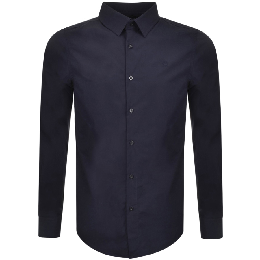 2d7cdfc249 Product Image for G Star Raw Slim Core Shirt Blue