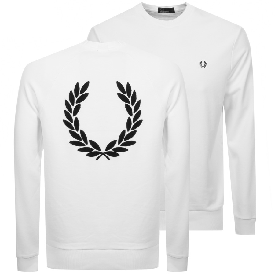 Main Product Image for Fred Perry Crew Neck Sweatshirt White