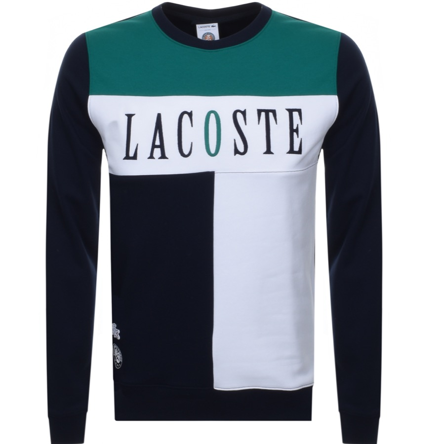 Lacoste Sport Colour Block Sweatshirt Navy