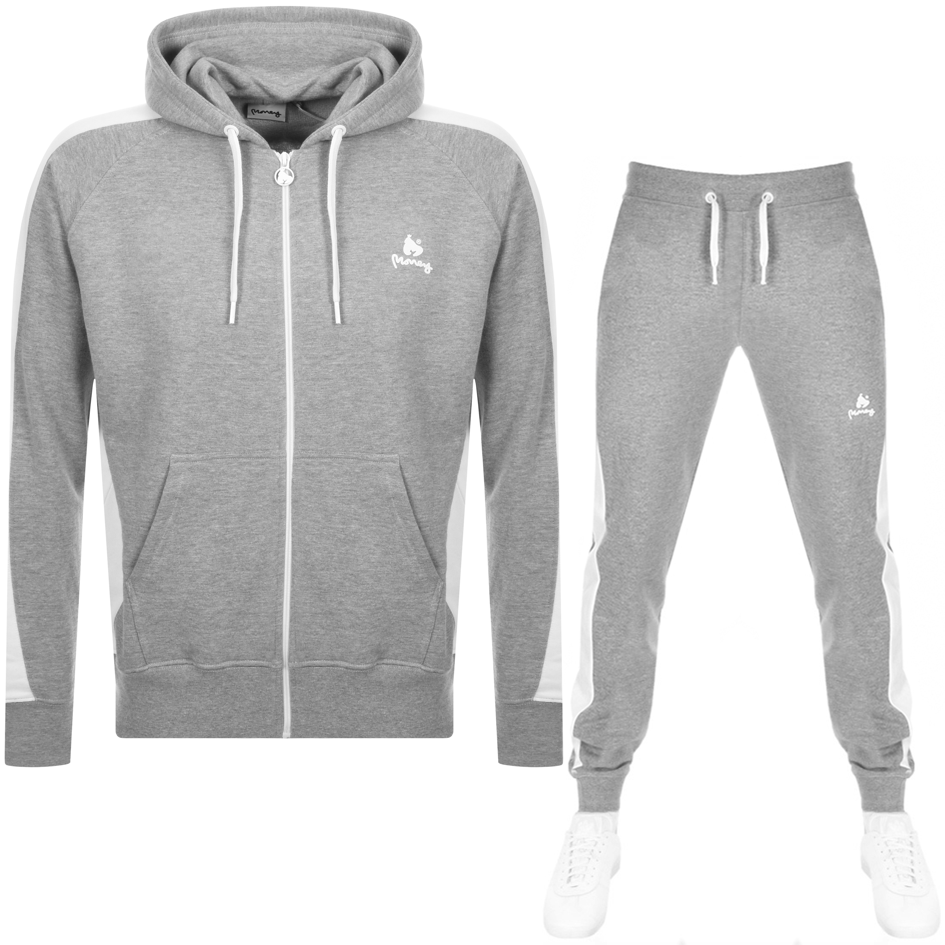 c5ed96fc48caf Product Image for Money Classic Retro Hooded Tracksuit Grey