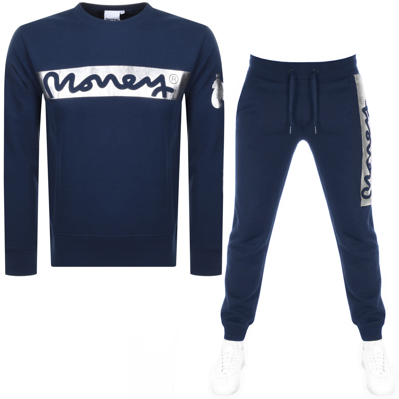 Main Product Image for Money Block Sig Ape Crew Neck Tracksuit Navy