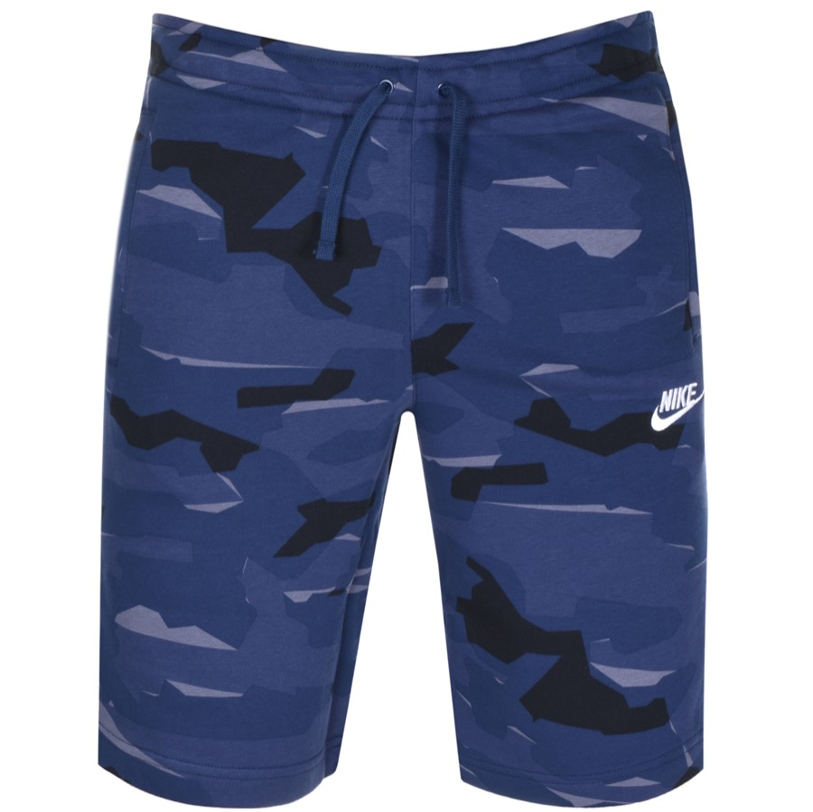 Main Product Image for Nike Standard Club Camouflage Shorts Blue