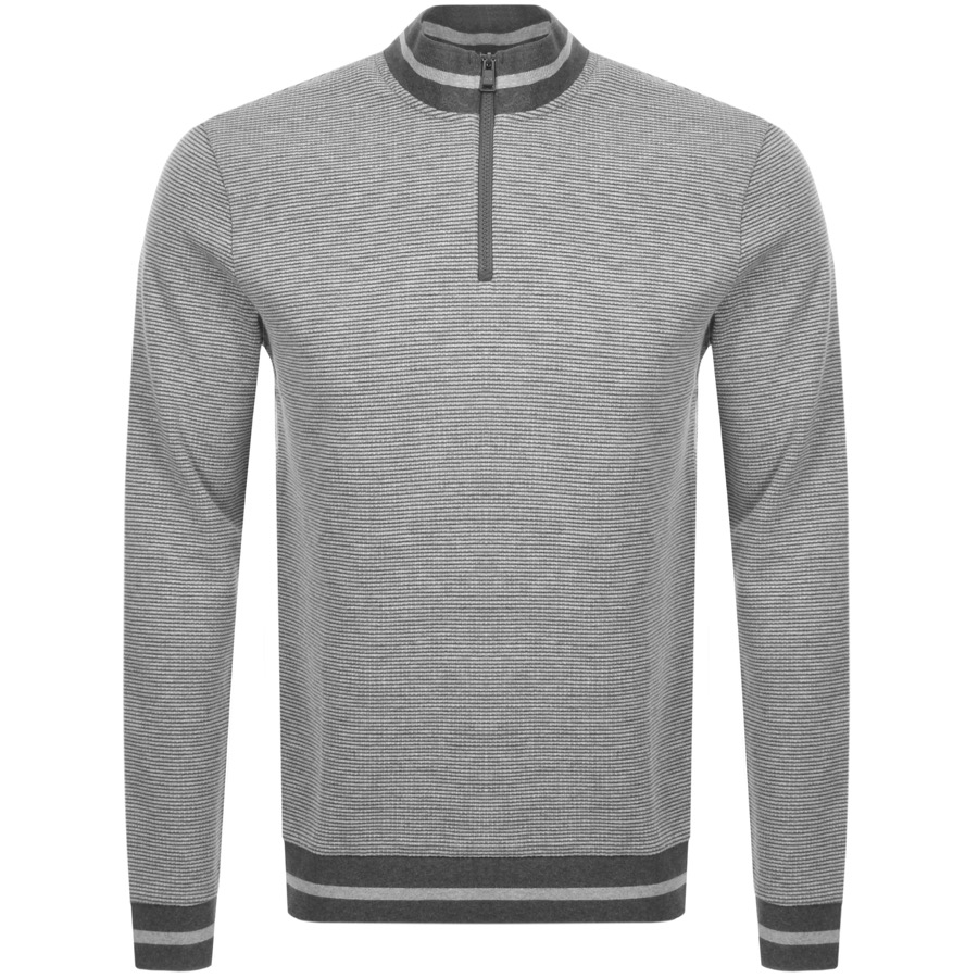 BOSS HUGO BOSS Sidney 16 Half Zip Knit Jumper Grey