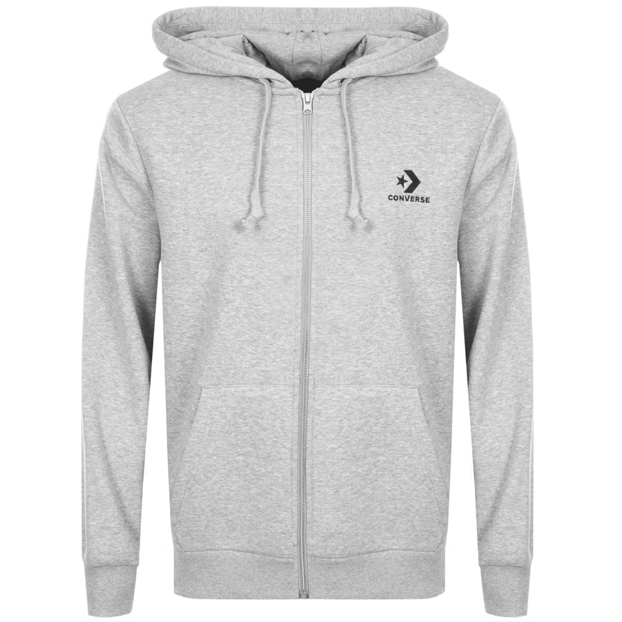 2b0596441798a Product Image for Converse Star Chevron Full Zip Hoodie Grey
