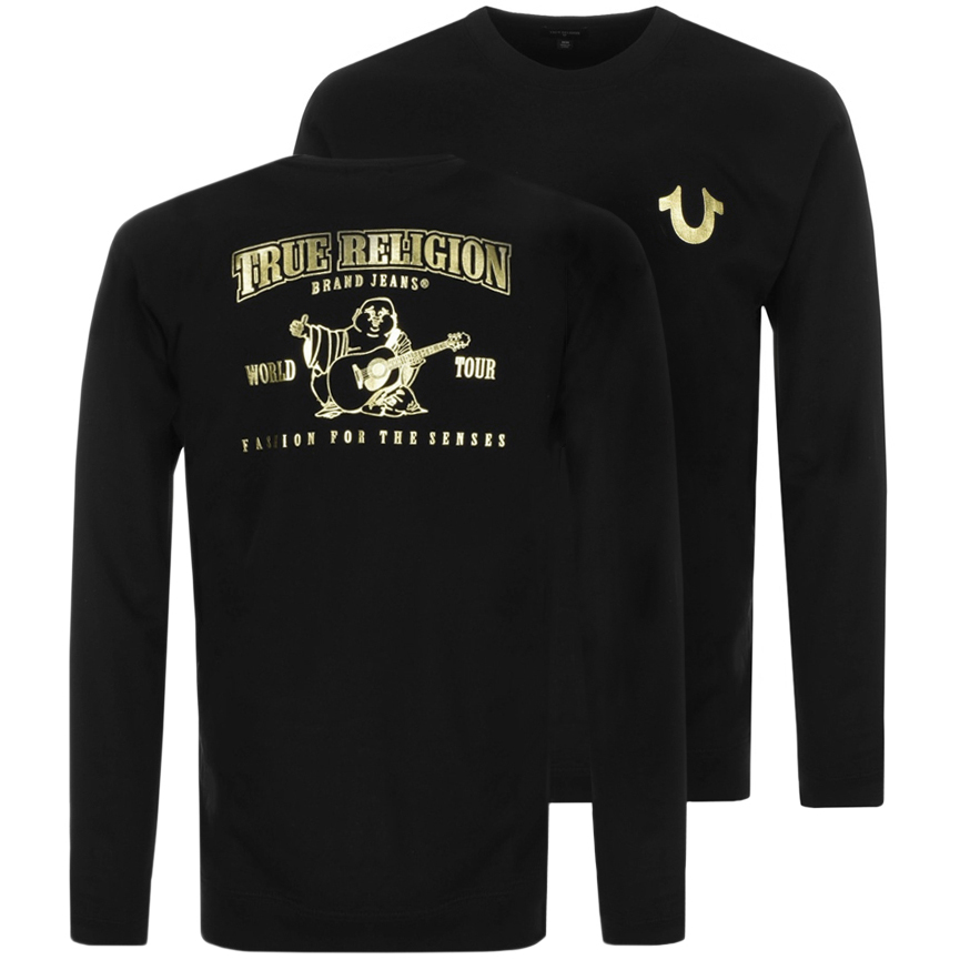 True Religion Crew Neck Sweatshirt Black