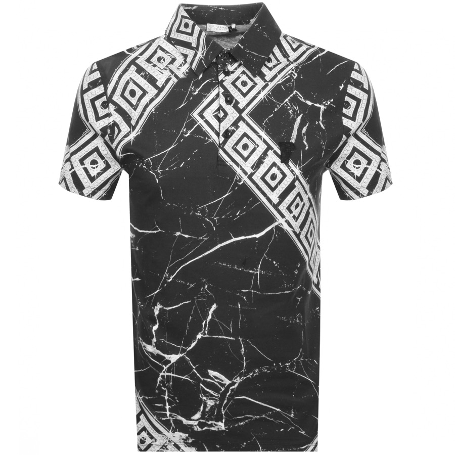 5d67105f Versace Collection Graphic Polo T Shirt Black | Mainline Menswear