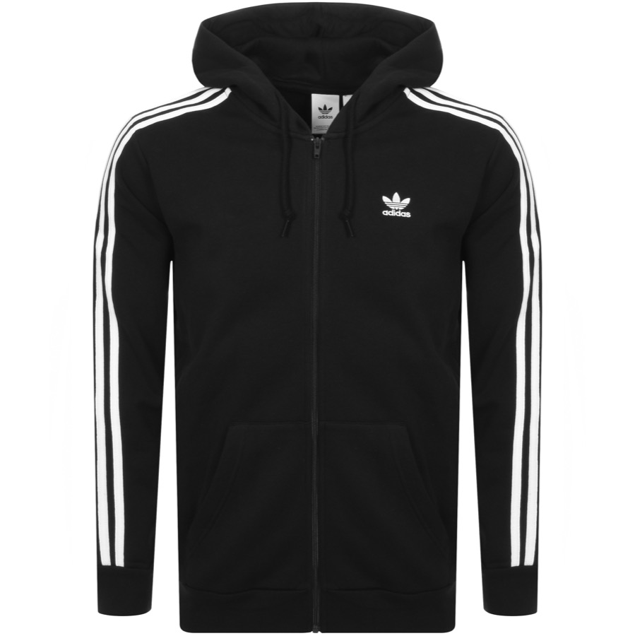 262b449a7365 Product Image for adidas Originals 3 Stripes Full Zip Hoodie Black