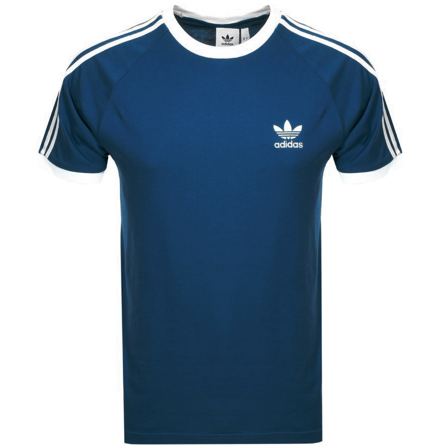6d255b49f Product Image for Adidas Originals California 3 Stripe T Shirt Blue