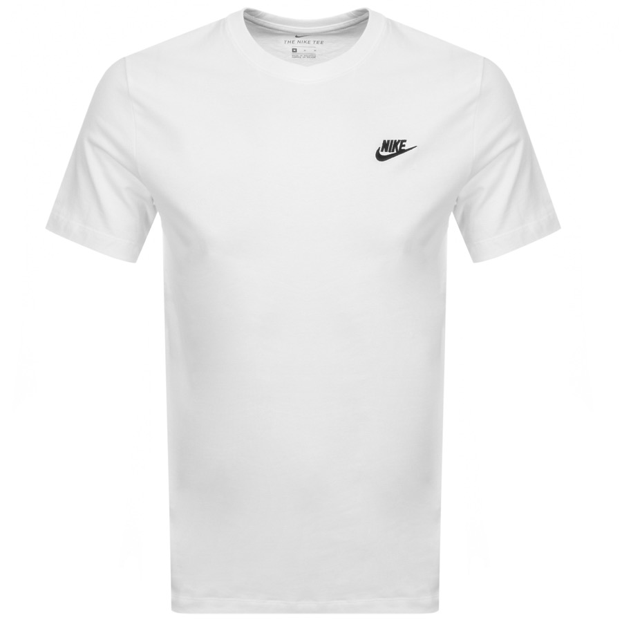 cd00f7dc2995 Product Image for Nike Crew Neck Club T Shirt White