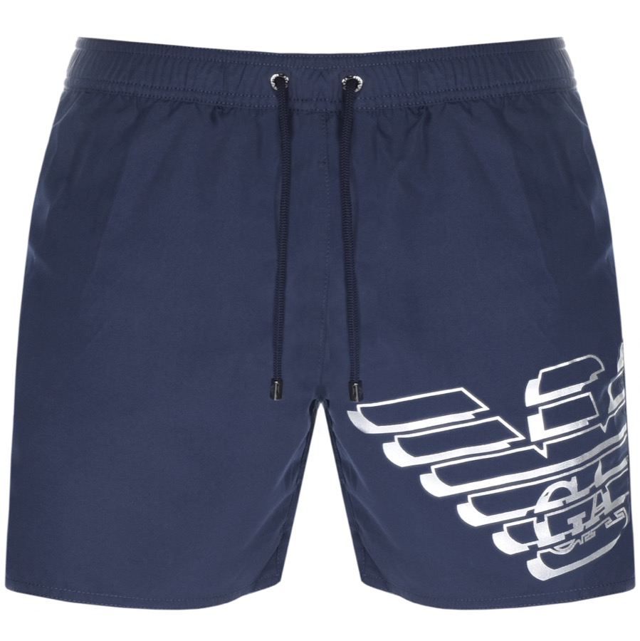 701244fb9a89 Product Image for Emporio Armani Logo Swim Shorts Navy