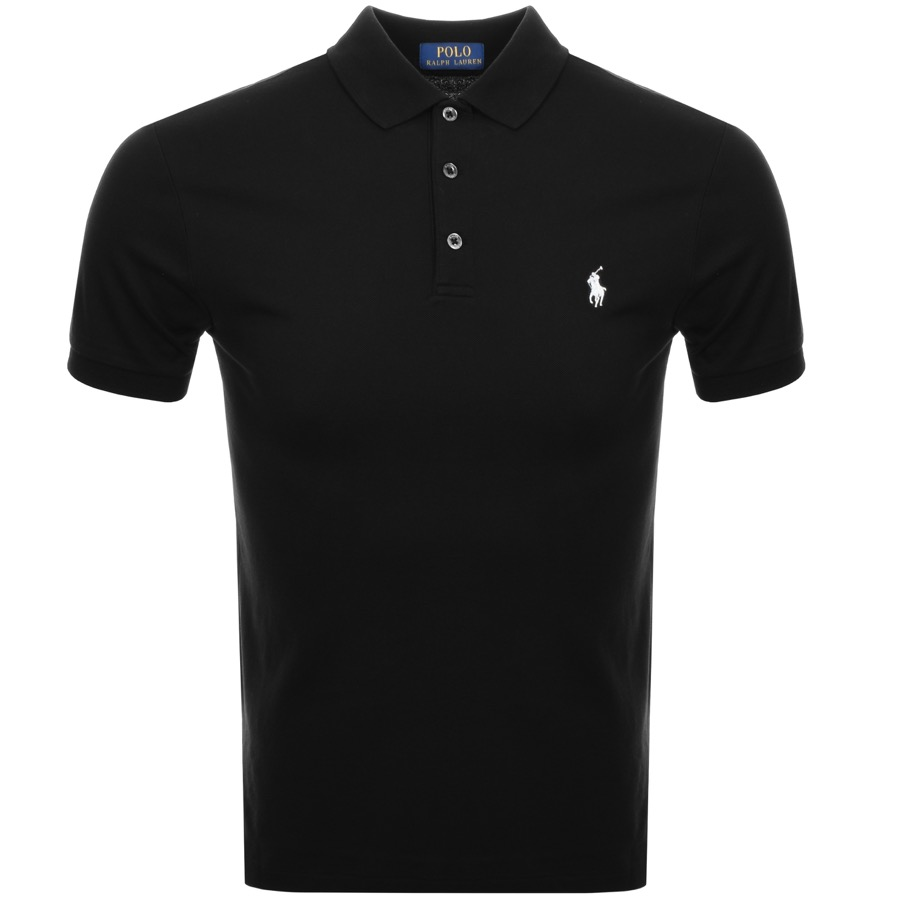 Main Product Image for Ralph Lauren Slim Fit Polo T Shirt Black