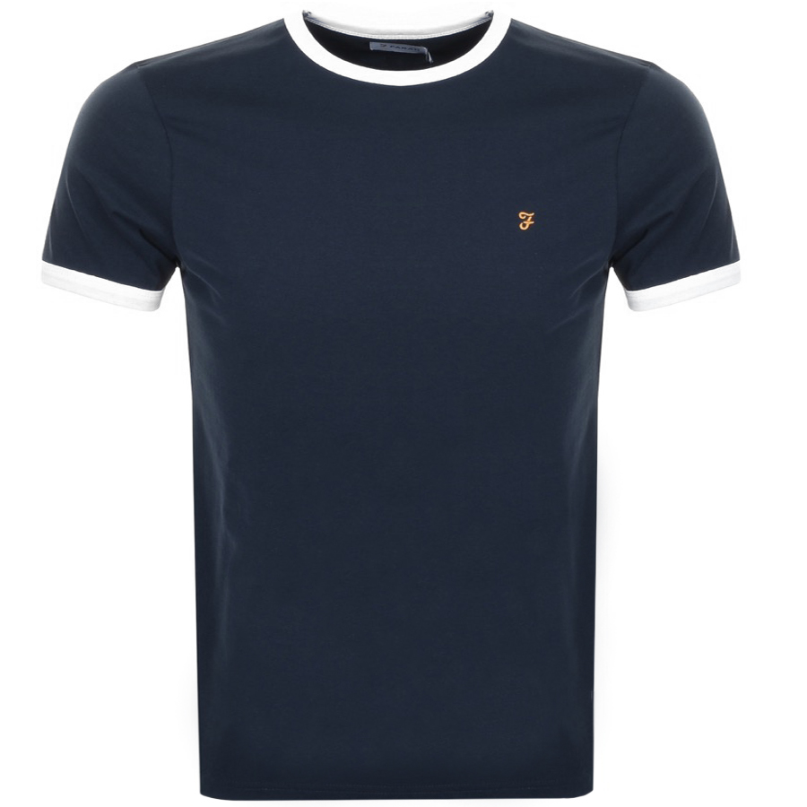 Main Product Image for Farah Vintage Groves Ringer T Shirt Navy