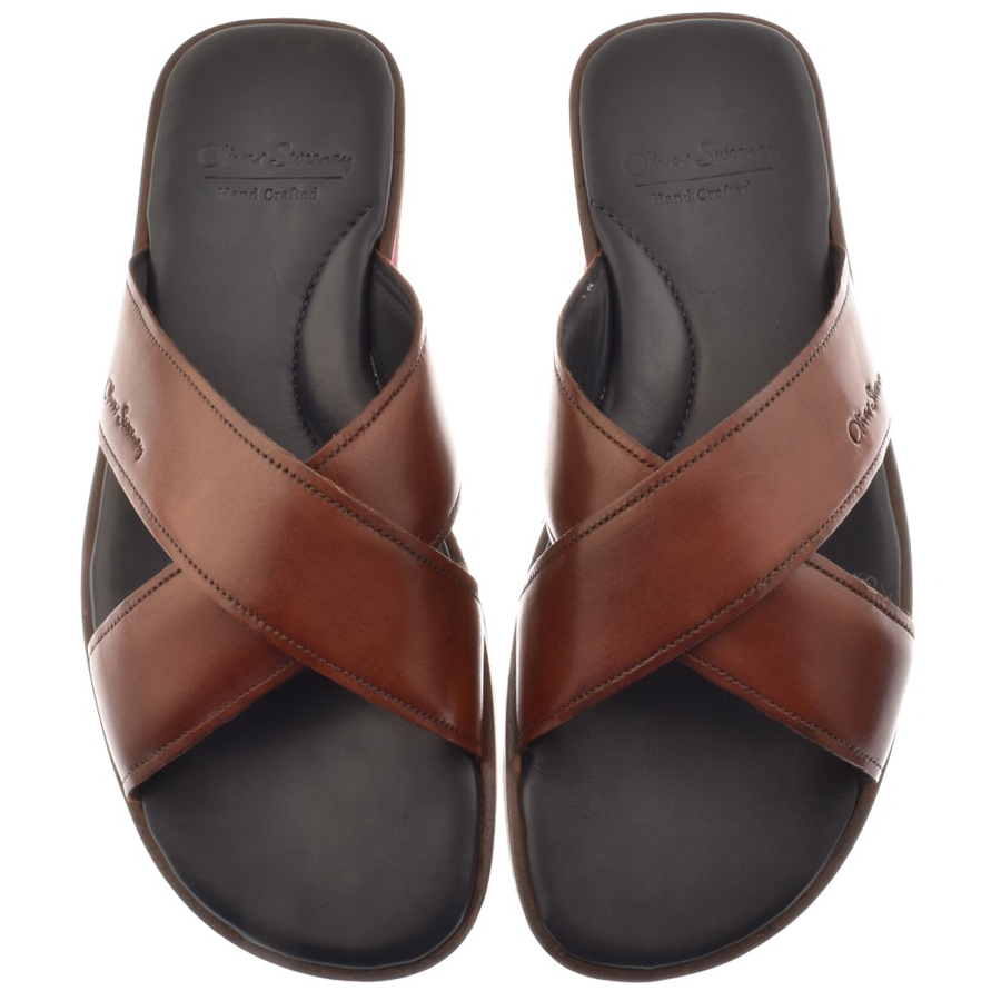 Sweeney London Whitestone Flip Flops Brown