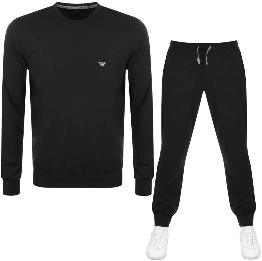 19bc4d568a4ce8 Product Image for Emporio Armani Lightweight Lounge Tracksuit Black