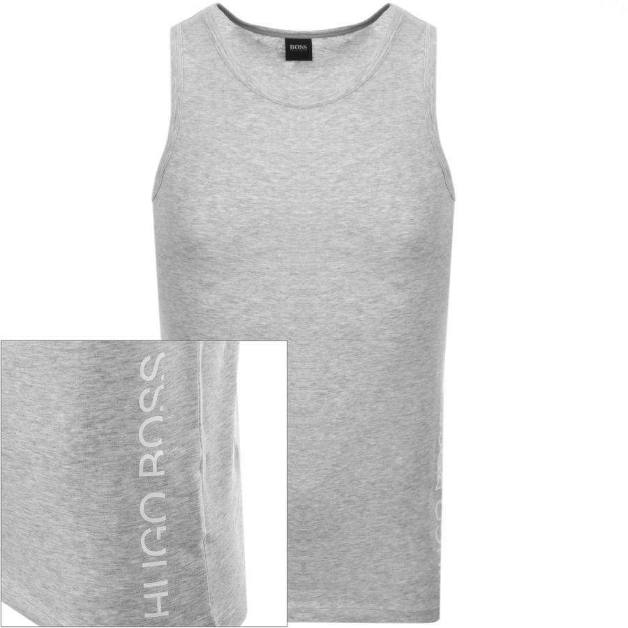 BOSS HUGO BOSS Logo Vest T Shirt Grey