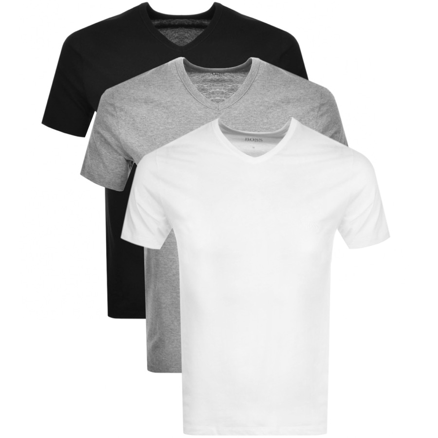 BOSS HUGO BOSS V Neck Triple Pack T Shirts