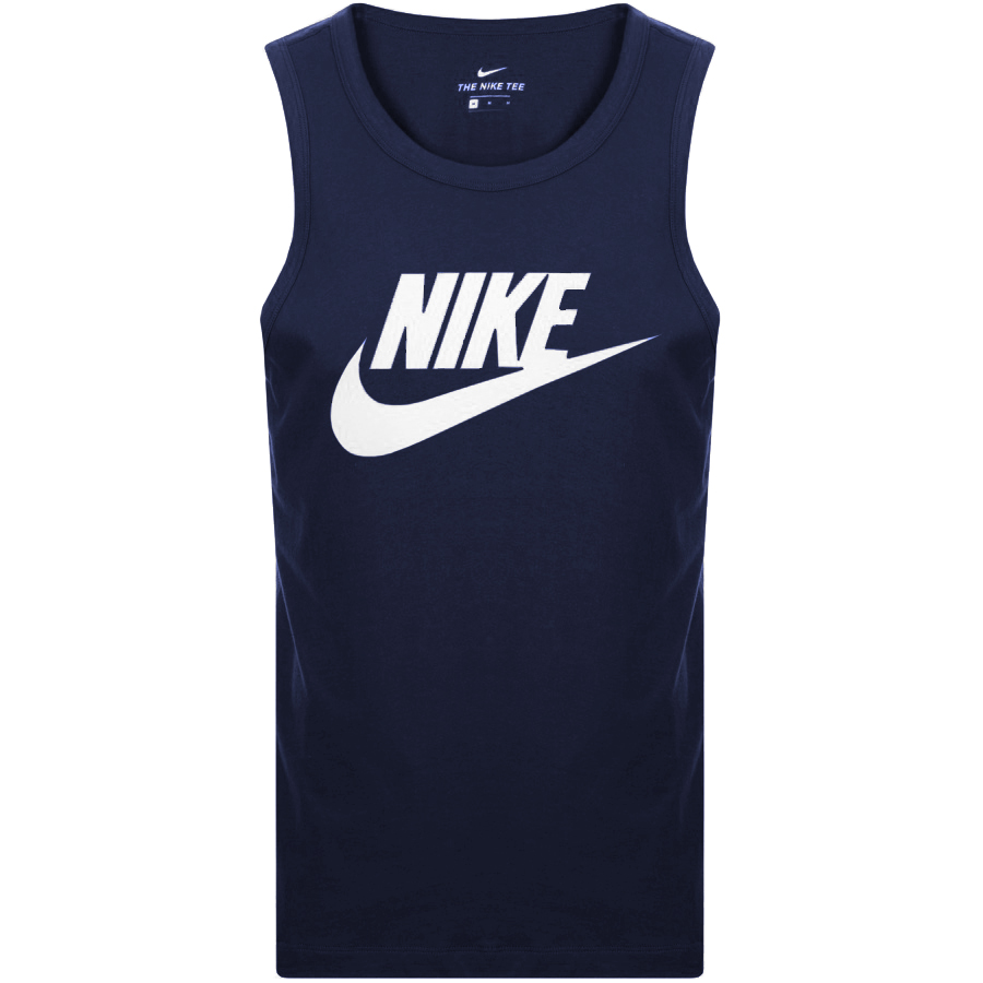 fd2d04c6b7c0 Product Image for Nike Futura Icon Logo Vest T Shirt Navy