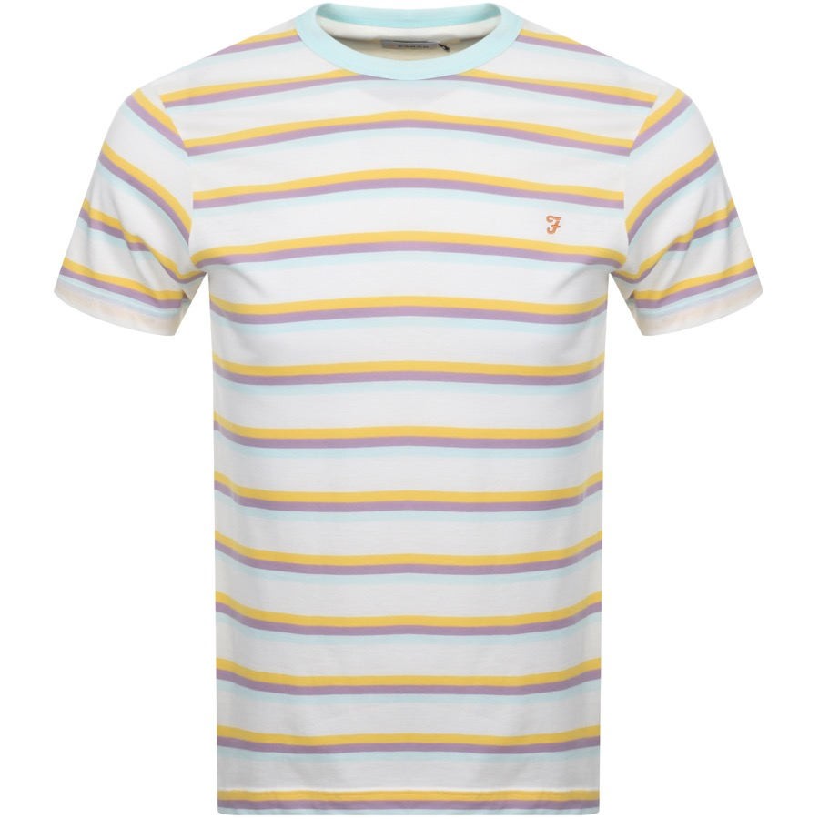 Main Product Image for Farah Vintage Piper Stripe T Shirt White