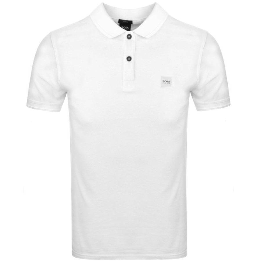 BOSS Casual Prime Polo T Shirt White