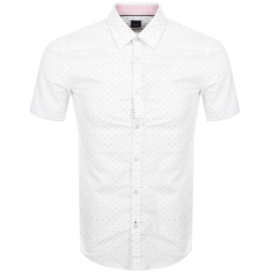 BOSS HUGO BOSS Ronn 2 Short Sleeve Shirt White