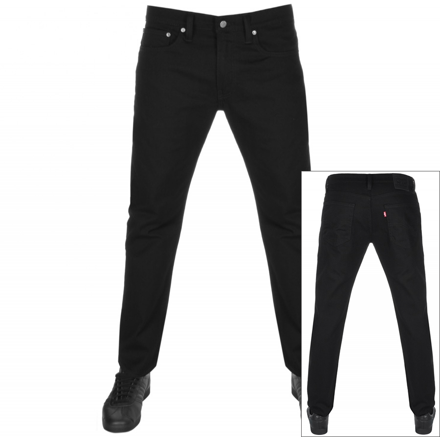 07fe661f270 Levis 502 Regular Tapered Jeans Black | Mainline Menswear